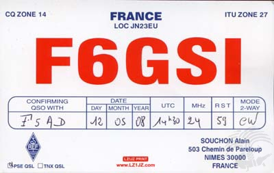 Carte QSL F6GJY, galerie F5AD